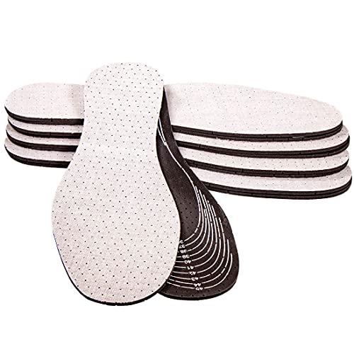 Langlauf Schuhbedarf 5 Paar Einlegesohlen mit Aktivkohle - Gegen Fußgeruch & Pilzhemmend
