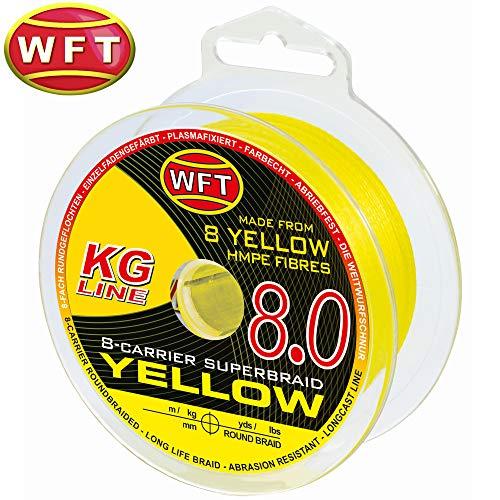 Bester der welt WFT KG8 Yellow 150m – Geflochtene Schnur zum Spinnen und Hochseefischen,… Schnur