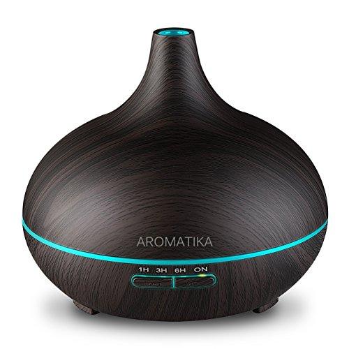 Luftbefeuchter Elektrisch 300ml für Aromatherapie - Ultraschall - Led - für Ätherische Öle für Raum - Kinderzimmer - Zuhause - Büro - Spa - Aroma Diffuser - Aromalampe elektrisch