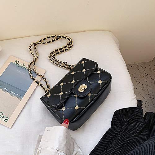 Ladies Bag Zak van het Meisje Texture handtas Koreaanse versie van de Wild Bag Shoulder Messenger Bag Fashion Rhombic Package Chain Bag (Color : 3)