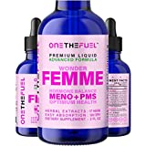 Wonder Femme - Hormone Balance Complex, Menopause Hot Flashes Depression Mood Relief + PMS Support - All Natural 17 Adaptogens w/ Dong Quai, Vitex, Black Cohosh + Herbal Extract Tincture Drops