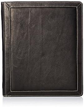 Piel Leather Three-Ring Binder Bl Black One Size