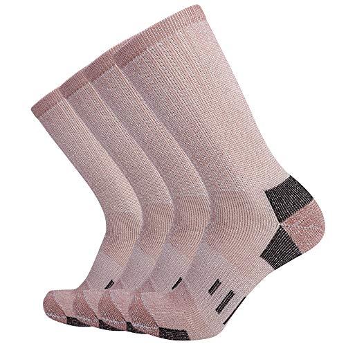Enerwear Mens Wool Blended Thick Socks, 4P Pack