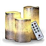 Sin llama velas por LED Lytes, Set de 3velas LED de cera, marfil con apagado automático mando a distancia