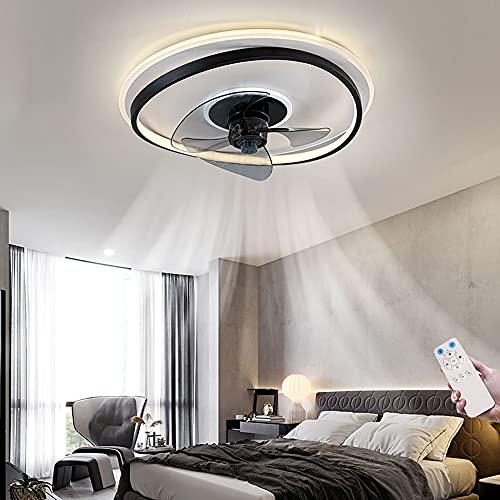 Ventilador De Techo LED Con Iluminación Y Control Remoto Ventilador De Techo Moderno Y Silencioso Con Luz 3 Velocidades Sala De Estar Dormitorio Restaurante Cocina Oficina Ventilador Luz De Techo
