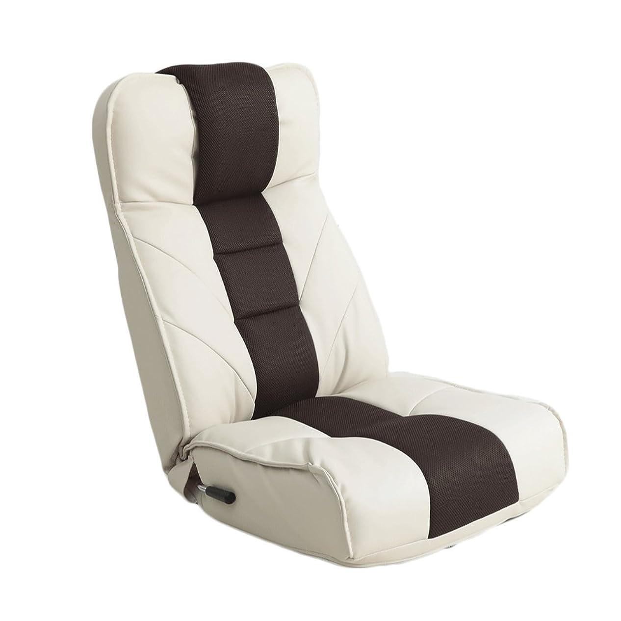 診療所引き潮伸ばす明光ホームテック ロングセラー座椅子Jr.(ジュニア) [ レバー式 14段階リクライニング / アイボリー/ハイバック ] 立体縫製デザイン (TVが見やすい) FRS-アクロス