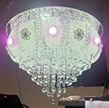 siddhika Light Traders Crystal RGB LED Chandelier with Music System, Bluetooth Connection,