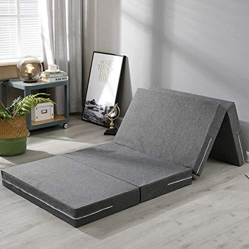 SDXMIUHX Opvouwbare matras, 70 x 190 x 5 cm, multifunctionele vouwmatras, voor thuis, gymnastiekmat, met handgrepen, kantoor, lunchpauze mat, thuisfitnessmat