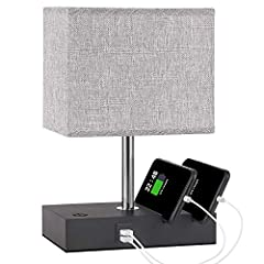 【Fully Dimming Touch Control Bedside Lamp】 : This touch control bedside lamp has fully dimming function, you could adjust the brightness according to your using environment. How to dim? Just hold your finger on the on/off button on the base for secon...