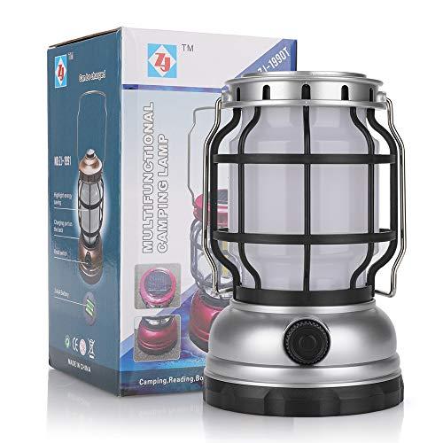 Ajing Linterna LED para camping, estilo vintage, linterna recargable, 1200 mAh, apto para emergencia de huracanes, camping, kits de supervivencia, senderismo, hogar