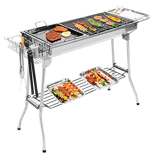 Foldable Barbecue Grill-outdoor Portable Camping Barbecue Grill Charcoal Picnic Stove Head Compact Black Barbecue Stove, for Outdoor Campers Barbecue Enthusiasts Travel Park Beach and Wild KAIRUI