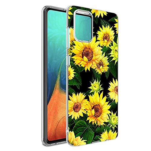 Hülle-Durchsichtig-Samsung-Galaxy-A71,Durchsichtig-Anti-Gelb-Handyhülle-Durchsichtig-Tasche-Schutzhülle,Klare-Blume-Motiv-Süße-Blumen,for-Samsung GalaxyA71-10