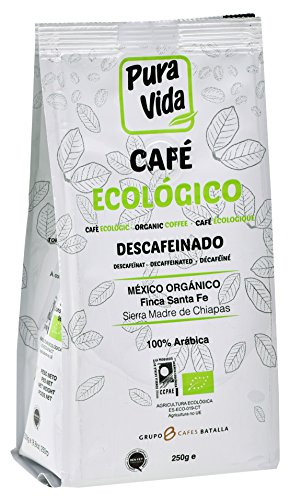 Pura Vida Café Ecológico Descafeinado Molido - 4 Paquetes