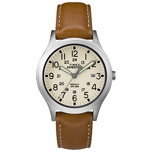 Timex Expedition Scout Armbanduhr, 36 mm Tan/Silver/Natural