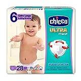 Chicco Chicco Ultra Fit&Fun – Confezione da 28 pannolini ultra assorbenti, taglia 6, 16 – 30 kg (Large) 28 pz – Pannolini Maxi 16 – 30 kg 28 pz