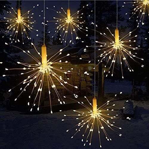 Lichterkette, Queta LED Feuerwerk Lichtkette wasserdicht Weihnachtslichterkette mit Batteriebetrieben Fernbedienung (180 Lampenperlen, Ohne Batterien)