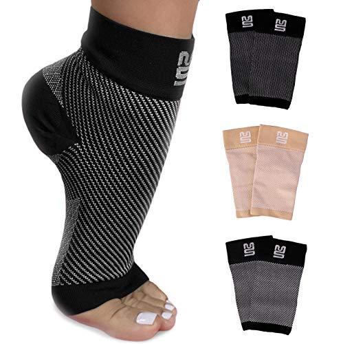 Premium Kompressionssocken lindern Fersensporn, Plantarfasciitis und Fuß Schmerzen - Fersensporn Socken grau