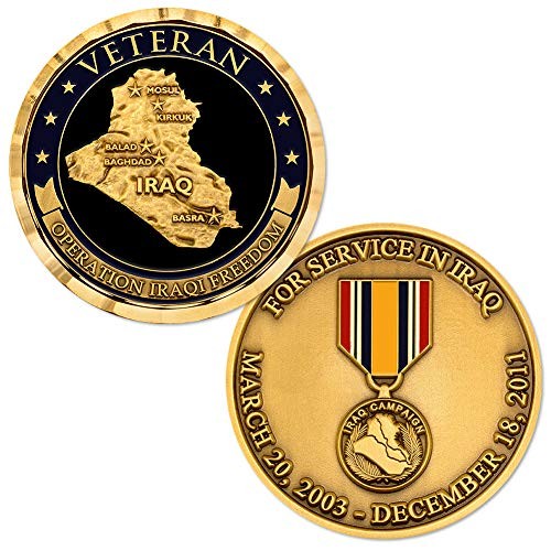 Operation Iraqi Freedom Veteran 2003-2011 Bronze Challenge Coin