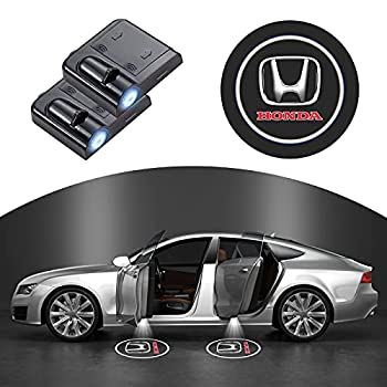 2 Pieces Car Door Lights Logo Projector Compatible for Honda CR-V CRV Pilot EX EX-L Touring Accord Civic Pilot Series Lights Shadow Ghost Light Welcome Courtesy Lights