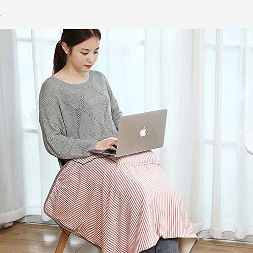 AUED Heizkissen, Decke elektrische Heizdecke Warm Fuss-Kissen Warm Schulter Warm Leg Heizkissen USB, für Männer und Frauen mittleren Alters,Rosa