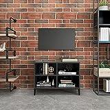 Mueble de TV, Mesa para TV Armario para TV Mesa Televisión Mueble de TV con Patas de Metal Gris 69,5x30x50 cm