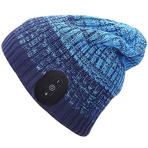 Sombrero De Música Bluetooth, Binaural Inalámbrico Sombrero Tejido con Bluetooth V5.0 Lavable...