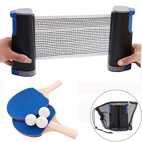 Amazing Deal QIEZI ping Pong net Table Tennis Racket Set Ping Pong Paddle Board 3 Game Balls Profess...