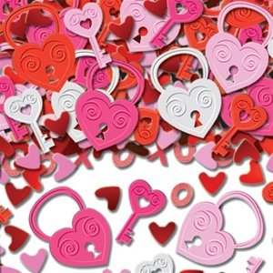 amscan International Key to My Heart Confettis en Relief