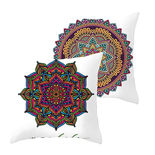 Set de 2 Fundas de Cojines Throw Pillow Case Folk-personalizado Cojines Decoracion Terciopelo Suave Fundas de Almohada Cuadrado para Sofá Coche Dormitorio Decorativo Hogar G1377 Pillowcase_60x60cm