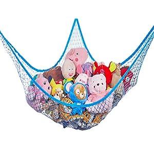 Toy Hammock, Stuffed Animal Toy Storage Hammock Net, G-Helper 70 inch Extra Large Jumbo Mesh Toy Net, Wall Sling Corner Mesh Nets for Kids Toys