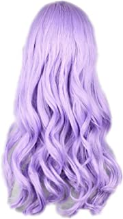 COSPLAZA Cosplay Wig Light Purple Long Wavy Curly Anime Show Party Hair