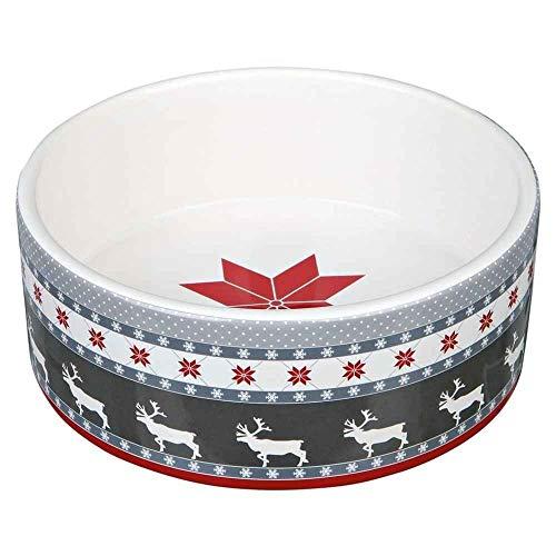 Trixie - Écuelle en Céramique avec motif Noël pour Chien et Chat - 800ml