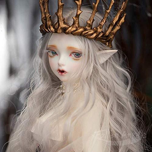 MZBZYU BJD Doll 1/4 40cm Ball Jointed Body SD Doll con L'insieme Completo di Vestiti Cappotto Scarpe Capelli,Il Miglior Regalo per Ragazze Nessuna Corona