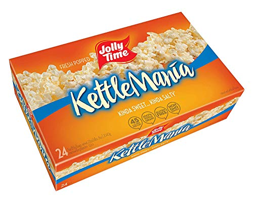 Jolly Time KettleMania Microwave Popcorn Sweet and Salty Gourmet Kettle Corn, 24 Count - PACK OF 3