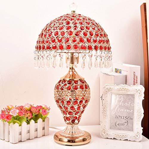 MAONB Europese kristallen tafellamp slaapkamer bedlampje eenvoudig modern creatief huwelijksgeschenk decoratie ijzer metaal bureau tafellamp woonkamer bureau woonkamer bureau woonkamer Industrieel rood
