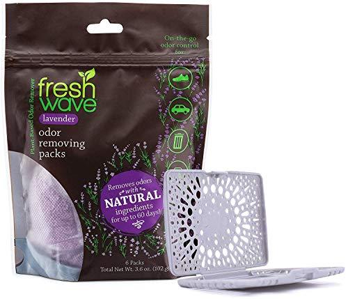 Fresh Wave Lavender Odor Eliminating & Deodorizing Packs, Bag of 6 + Fresh Pod Case