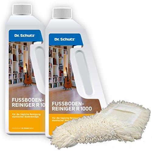 Dr. Schutz 2X Fußbodenreiniger R 1000 (750 ml) inkl. Wischmopp