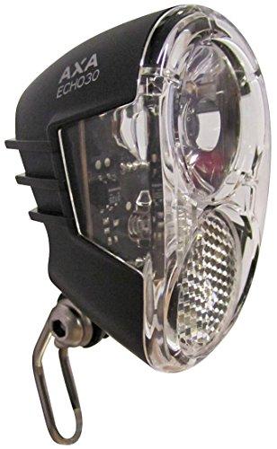 AXA Fahrradscheinwerfer LED- Scheinwerfer Echo 30 Steady Auto, Schwarz, 939159