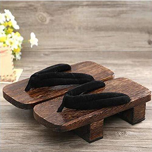 Zapatos Tradicionales Japoneses Informal Paulownia Madera Geta Zuecos Oriental China De Verano Chancletas Pisos Hombre Al Aire Libre Sandalias Zzzb (Color : Color9, Size : 42)