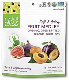 Fruit Bliss Dried Fruit Mix – Fruit Medley of Organic, Dried & Pitted Apricots, Plums & Figs - Organic Fruit Snacks, Dried...