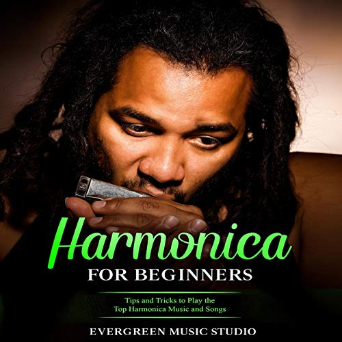 Diseño de la portada del título Harmonica for Beginners