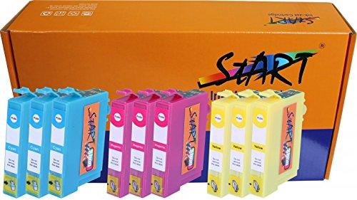 Start - solo i colori! 9 CHIP Cartucce compatibili per Epson 29XL, T2992 XL Ciano (Blu), T2993 XL Magenta (Rosso), T2994 XL Giallo per Epson Expression Home XP-235 XP-332 XP-335 XP-432 XP-435