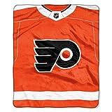 NHL Philadelphia Flyers 'Jersey' Raschel Throw Blanket, 50' x 60'