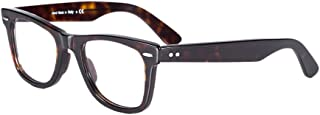 Eileen&Elisa Acetate Retro Rectangle Glasses Frames for Men/Women Optical Eyeglasses Frame with Non Prescription Lens
