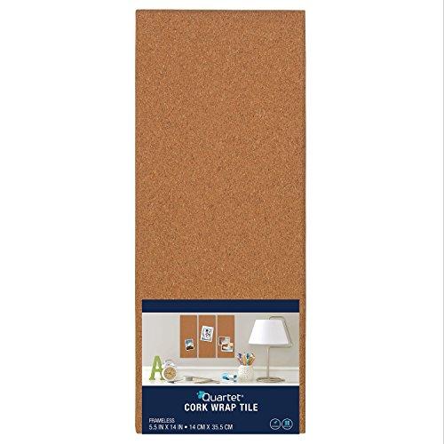 Quartet Cork Tiles, Cork Board, 5-1/2
