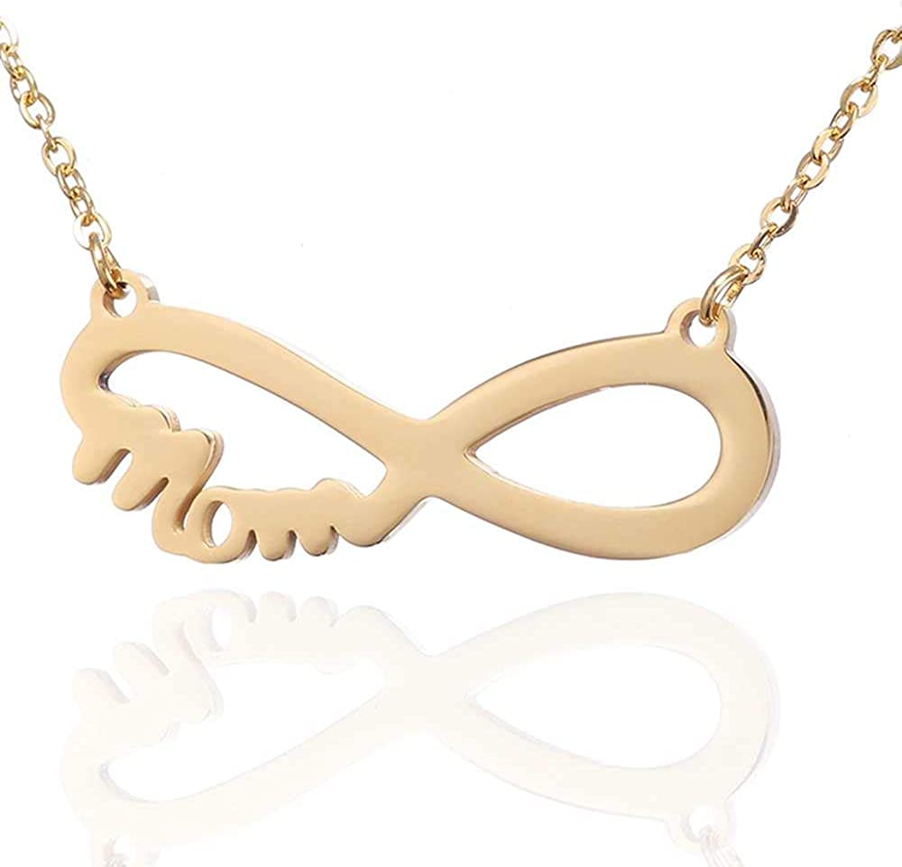 Stainless Steel Infinity Charm Mother's Day Mom Brithday Gift Collar Necklace