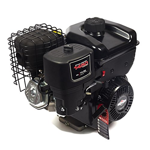Briggs & Stratton 1450 Series Horizontal OHV Engine - 306cc, 1in. x 2.765in. Shaft, Model# 19N132-0055-F1,Black