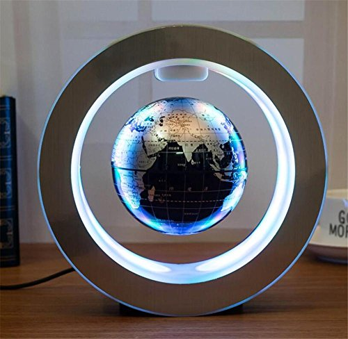 Levitating 4 inch luminous rotation magnetic levitation globe desk desk...