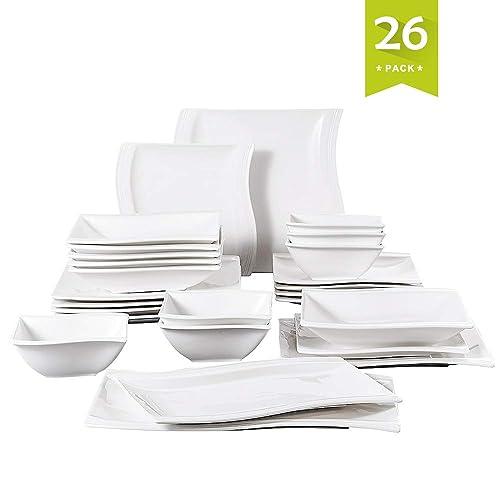 ca64d399387c Square Dinner Set  Amazon.co.uk