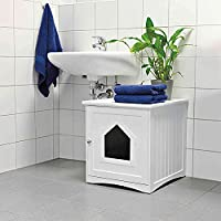 suitable for hiding a cat litter box prevents cat litter being spread ventilation holes for ideal air circulation